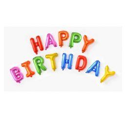 Шары-буквы HAPPY BIRTHDAY Цветные