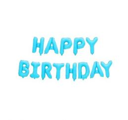 Шары-буквы HAPPY BIRTHDAY Голубые