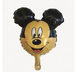Фольгированный шарик на палочку МИККИ МАУС 37см