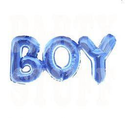 Шары-буквы BOY Голубые