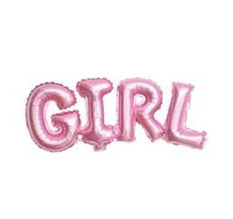 Шары-буквы GIRL розовое золото