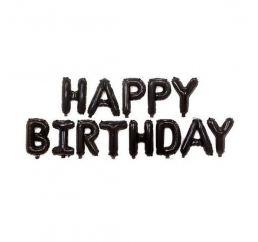 Надувная надпись HAPPY BIRTHDAY черная13 букв