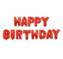 Фольгированная надпись HAPPY BIRTHDAY Красная