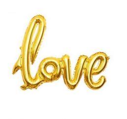 Шар LOVE Золото 70х100 К