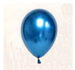 Шары Хром Синие ShinyBlue 33cm