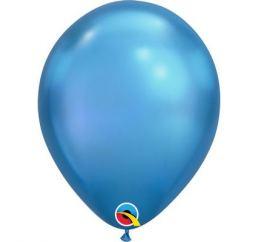 Хромовый шар 30см Синий Blue Q