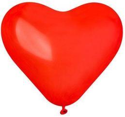 16'' Шар сердце красное Ит