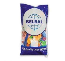Разноцветные шарики пастель 30см 50шт Belbal