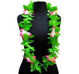 Гавайские бусы розово-зеленые 125см
