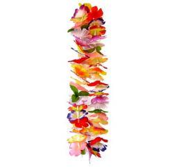 Цветочные Гавайские леи (бусы) разноцветные 125см
