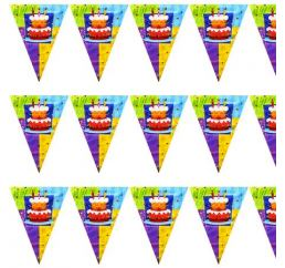 Гирлянда-флажки Торт Birthday