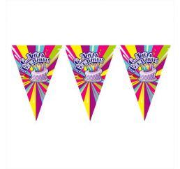 Бумажные вымпелы С днём рождения