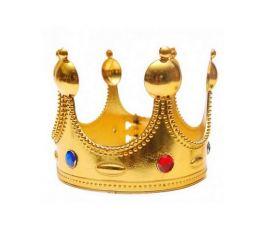 Корона КОРОЛЯ золотая (пластик)