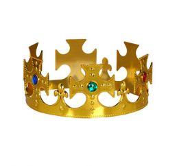 Корона Царя золотая (пластик) 17,5см