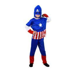 Детский костюм супергероя КАПИТАН АМЕРИКА