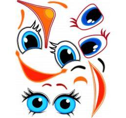 Наклейки-Глаза для шаров №9