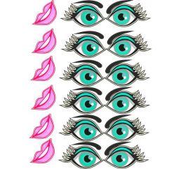 Наклейки-Глаза для шаров №8