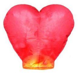 Небесный фонарик Красный СЕРДЦЕ