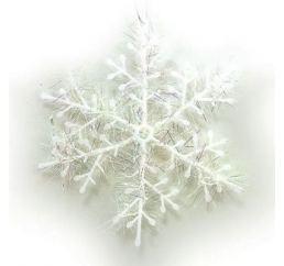 Новогодние Снежинки пластик 13см 3шт