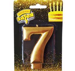 Свеча-цифра 7 ЗОЛОТО