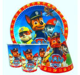 Набор детской картонной посуды ЩЕНЯЧИЙ ПАТРУЛЬ
