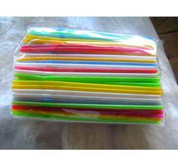 Трубочки разноцветные 200шт