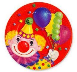 Тарелка Клоун с шарами  17см 6шт К
