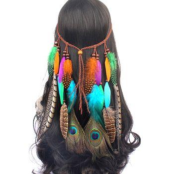 перья в волосы